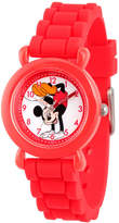 Disney Minnie Mouse Girls Red Strap Watch-Wds000010