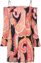 Trina Turk frill sleeve cold shoulder dress - women - Polyester/Spandex/Elastane - L