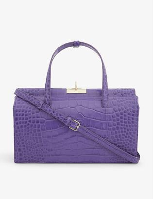 Gu De Margot croc-embossed leather top-handle bag