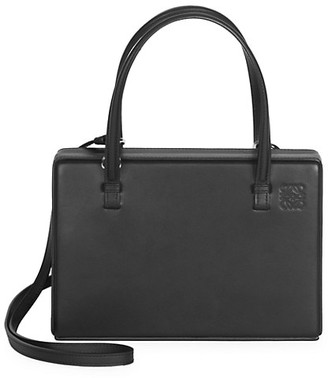 Loewe Leather Top Handle Box Bag