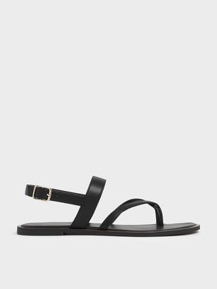 Charles & Keith Toe Strap Thong Sandals