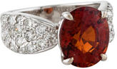 Ring 18K Garnet & Diamond
