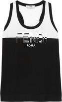Fendi Printed cotton-jersey tank