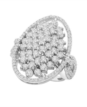 Wrapped in Love Diamond (2 ct. t.w) Oval Ring in 14K White Gold