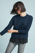 Harlyn Jodi Poplin Layered Sweater