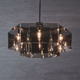 west elm Geo Glass Chandelier - Round (Polished Nickel/Smoke Luster)