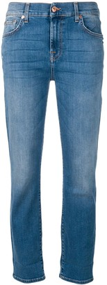 7 For All Mankind Stonewashed Slim Fit Jeans
