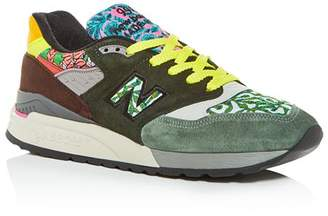 New Balance Men's Made in the USA 998 Mixed Media Low-Top Sneakers