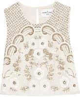 Needle & Thread Embellished Chiffon Top - Ivory