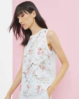 Ted Baker Oriental Blossom Vest Top Light Grey
