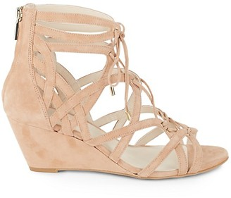 Kenneth Cole New York Dylan Suede Cage Wedge Sandals