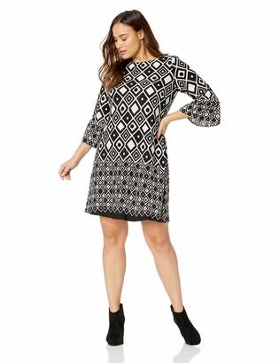 Gabby Skye Women's Plus Size Printed Shift Dress