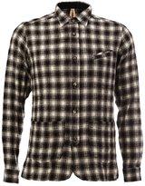 Dnl - checked longsleeved shirt - men - Cotton/Wool - 40