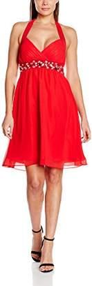 My Evening Dress Women's Emily Knee-Length Plain Halterneck Dress,4 (Manufacturer Size: 32)