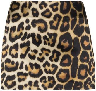 GAUGE81 Nara leopard-print mini skirt