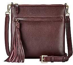GiGi New York Women's Scout Leather Crossbody Bag