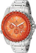 Oceanaut Men's OC0115 Casual Aviador Pilot Watch, Orange