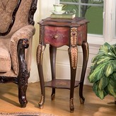Toscano Floral Bouquet Chiffoniere End Table Design