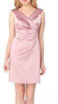 Tahari Petite Women's Satin Sheath Dress