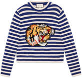 Gucci Striped wool knitted top