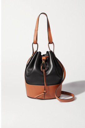 Loewe Balloon Medium Two-tone Leather Bucket Bag - Black