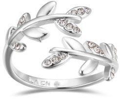 Unwritten Crystal Leaf Bypass Ring
