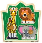 Melissa & Doug Kids Toy, Jungle Friends Jumbo Knob Safari Puzzle