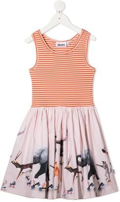 Molo Cassandra contrast midi dress