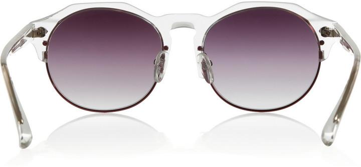 Matthew Williamson Linda Farrow for Round-frame acetate sunglasses