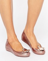 Melissa Rose Glitter Ultragirl Flat Shoes