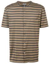 Lanvin Striped Polo Shirt - Brown - Size XL