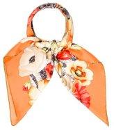 Salvatore Ferragamo Silk Floral Scarf w/ Tags