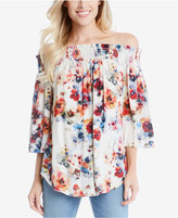 Karen Kane Off-The-Shoulder Floral-Print Top