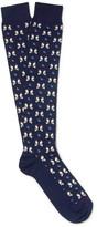 Etro Penguin-Patterned Cotton-Blend Socks