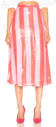 Olivia Rubin Penelope Skirt in Red & Pink | FWRD