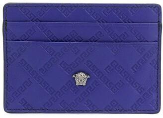 Versace Embossed Greca Card Holder