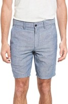 John Varvatos Men's Triple Needle Linen & Cotton Shorts