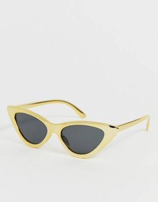 A. J. Morgan Aj Morgan AJ Morgan cat eye sunglasses in yellow