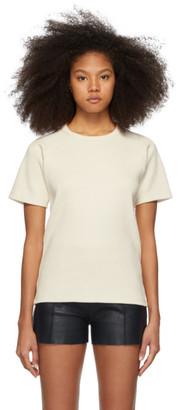 Victoria Victoria Beckham Off-White Military Rib T-Shirt