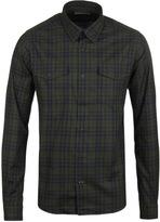 Barbour Molden Forest Green Tartan Tailored Flannel Shirt
