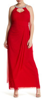 Marina Embellished Collar Gown (Plus Size)