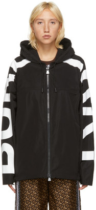 Burberry Black and White Hooded Jacket