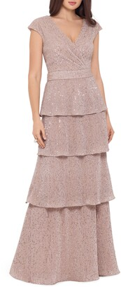 Xscape Evenings Sequin Embellished Tiered Gown