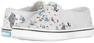 Native Miles Print (Toddler/Little Kid) (Tundra Grey/Shell White/Quartz) Boy's Shoes