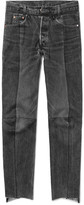 Vetements - + Levi's Slim-fit Panelled Denim Jeans
