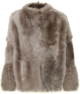 Agnona Reversible leather and fur coat