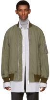 Sacai Khaki Cotton Bomber Jacket
