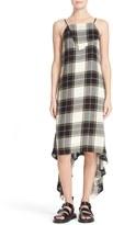 Public School Plaid Asymmetrical Midi Dress