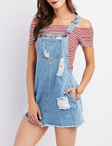 Charlotte Russe Cello Destroyed Overall Dress