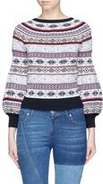 Alexander McQueen Fair Isle knit puffed sleeve sweater
